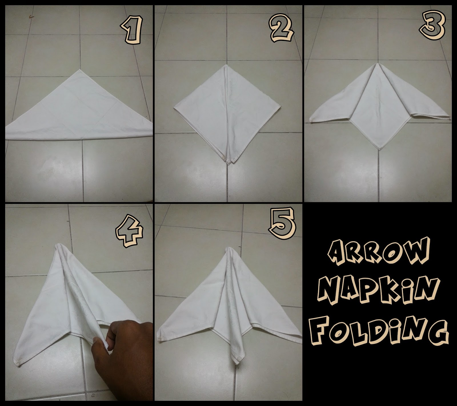 Arrow Folded Napkin